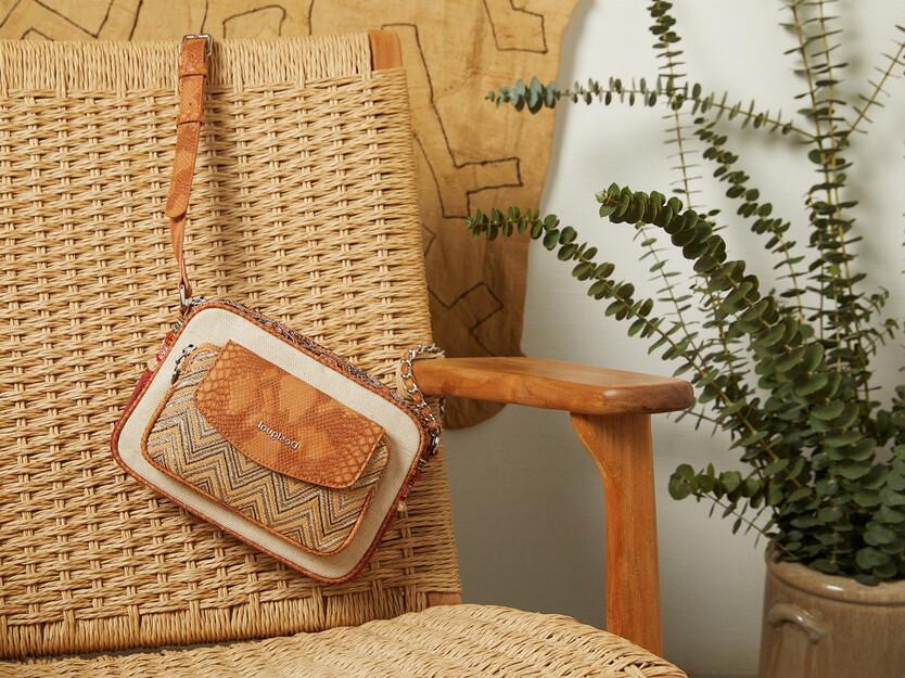 Mini-sling bag trimaterial