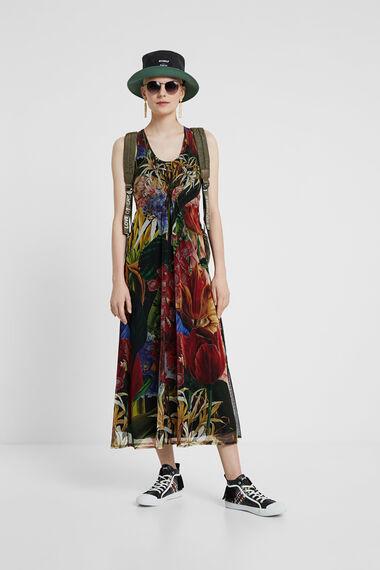 Midi tropical dress