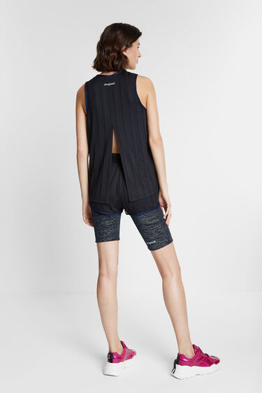 Tank top T-shirt striped structure | Desigual