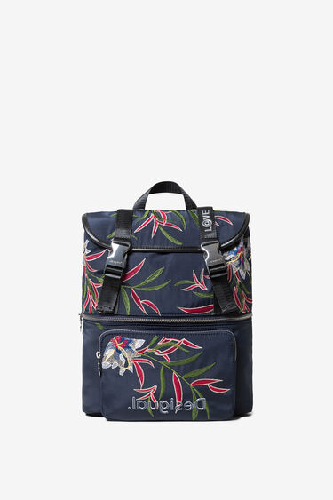 Floral embroidered backpack | Desigual