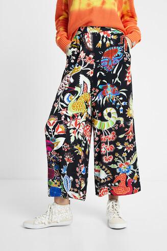 Fantazyjne spodnie typu culotte