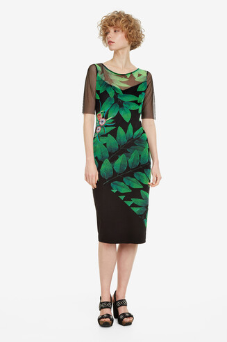 Slim Boat-Neck Dress Brooklyn