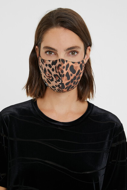Mascarilla leopardo + funda
