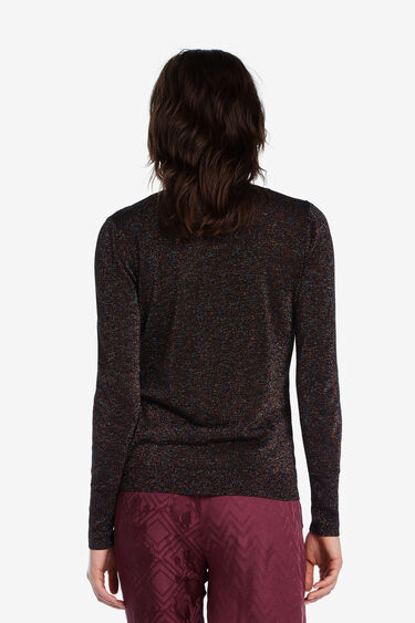 Jumper with friezes and shiny sequins | Desigual