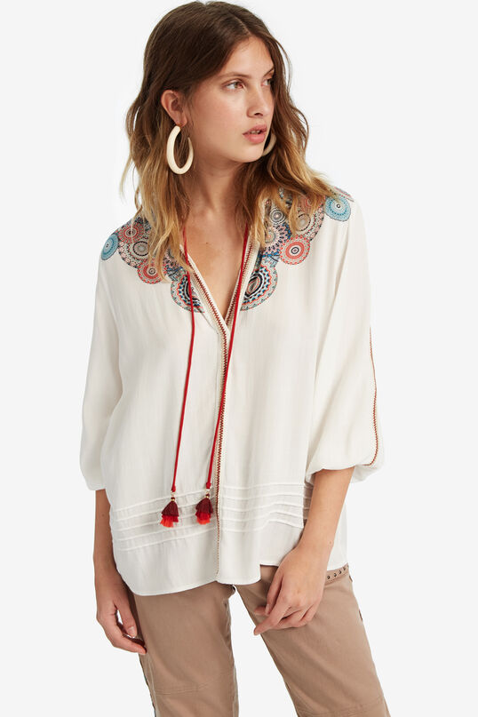 Flared viscose blouse | Desigual