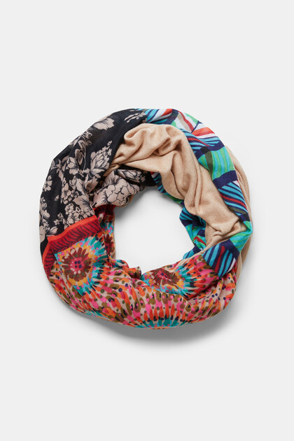 Foulard bucle estampado