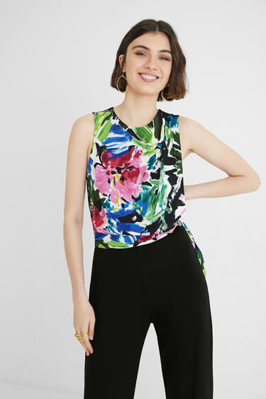 Long jumpsuit with bow on the body | Desigual
