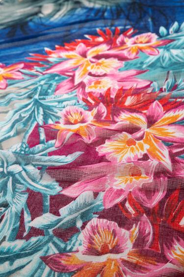 Szal w kwiaty w hawajskim stylu | Desigual