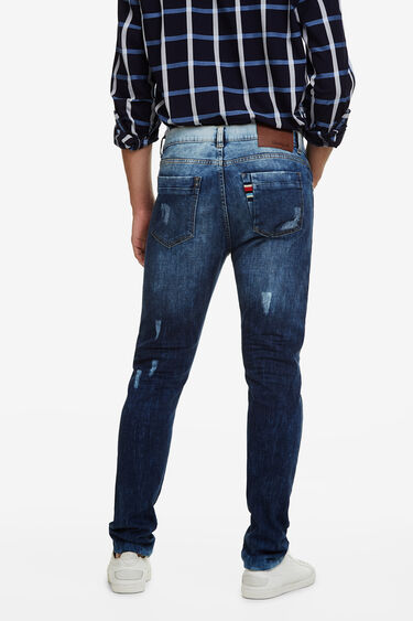 Faded denim jeans   Desigual