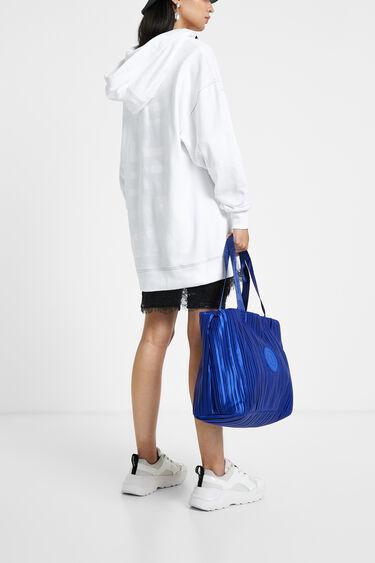 Długa bluza z kapturem i wstawkami z koronki | Desigual