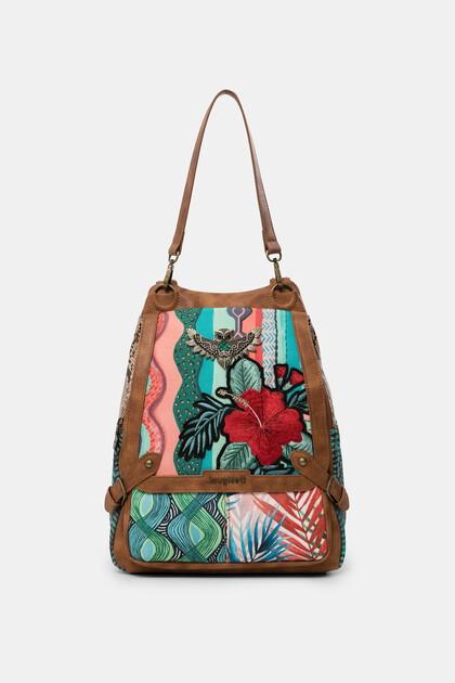 Backpack floral sequins
