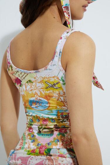 Hawaiian tank top T-shirt | Desigual