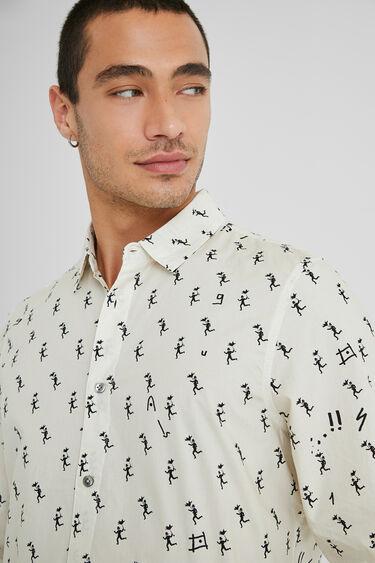 Camisa regular estampada   Desigual