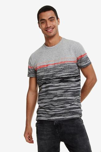 T-shirt jacquard franges