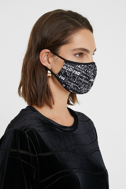 Lettering mask + pouch