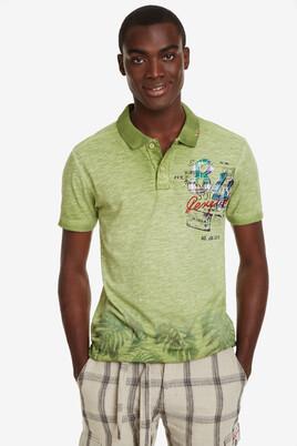 Faded Green Polo Shirt Eros