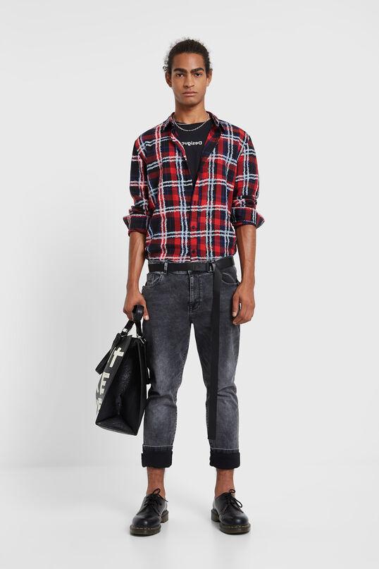 Regular long-sleeve checked shirt | Desigual