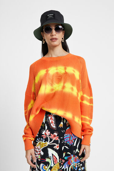 Faded ethnic knit jumper | Desigual