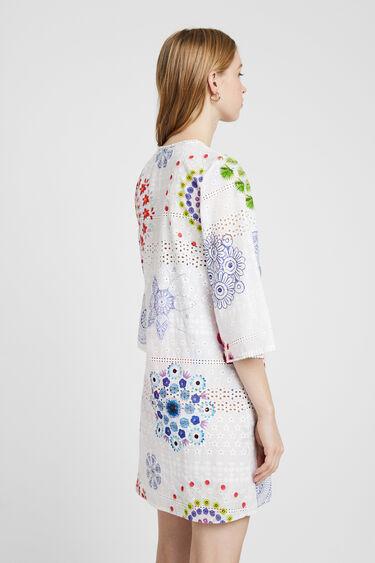 Dress English embroidery and mandalas | Desigual