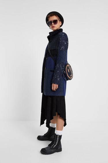 Cloth patch coat | Desigual
