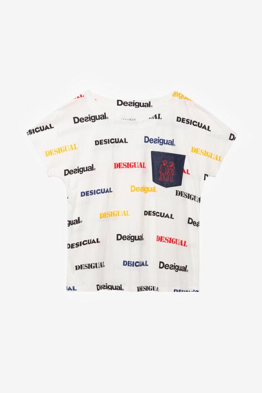Camiseta logomanía y robots Kendall | Desigual