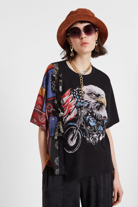 T-shirt ibrida USA | Desigual