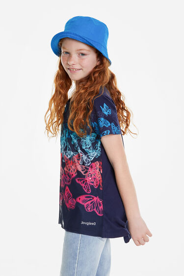 Short multicolour butterflies T-shirt | Desigual