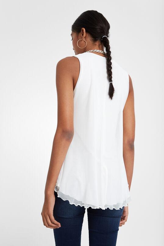 Ausgestelltes blumiges T-Shirt | Desigual