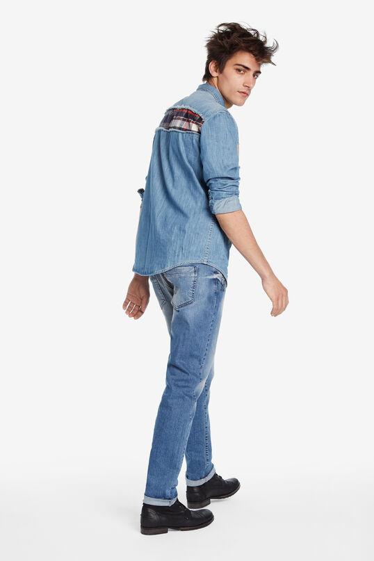 Camisa denim patch   Desigual