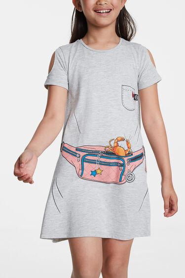 Trompe l'oeil dress with bum bag | Desigual