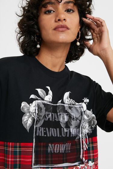 Oversize tartan T-shirt   Desigual