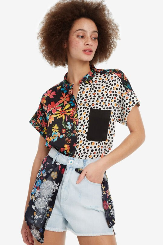 Denim Shorts with Floral Skirt Platea | Desigual