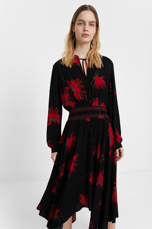 Long sleeve flared dress