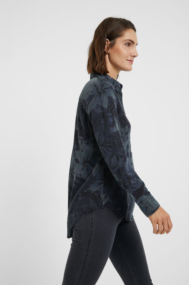 Long shirt camouflage flowers | Desigual