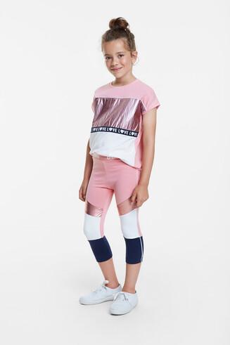 Capri leggings with multicolour bands