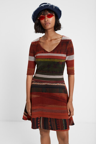 Boho-Kleid mit Streifen