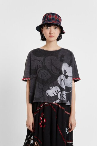 T-shirt Mickey Mouse franjas