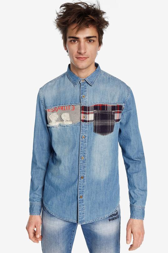Denim patch shirt | Desigual