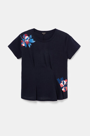 Eco embroidered floral T-shirt creases | Desigual