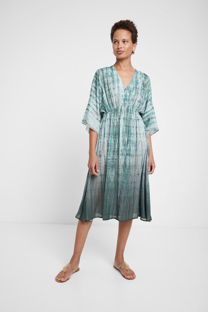 Oversize tie-dye dress