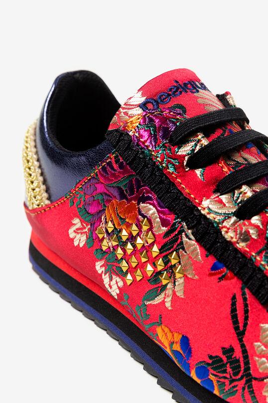 Sneakers satinées brodées | Desigual