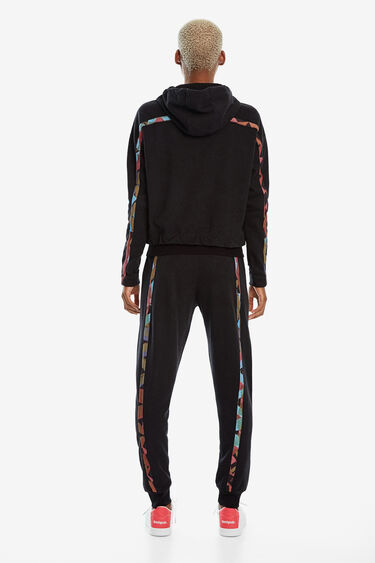 Sweatshirt with zipper and hood   Desigual