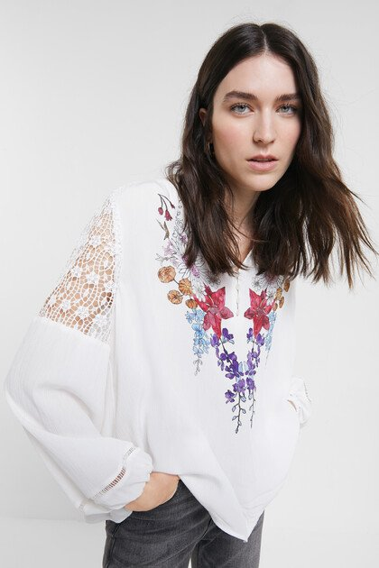 Boho lace blouse
