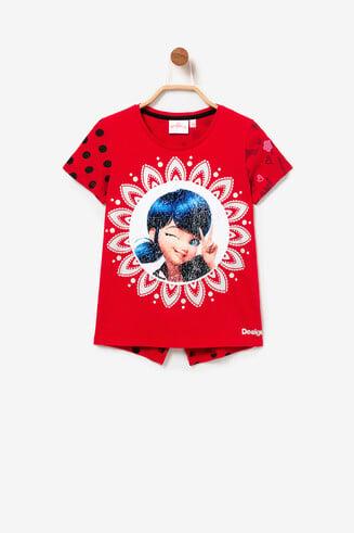 Weites Ladybug-Shirt Spots