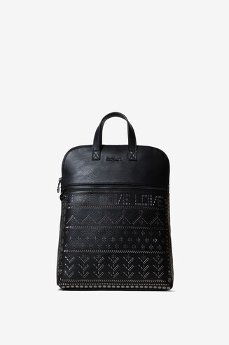 Backpack with metal rivets