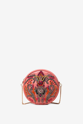 Embroidered Round Bag Boho Party
