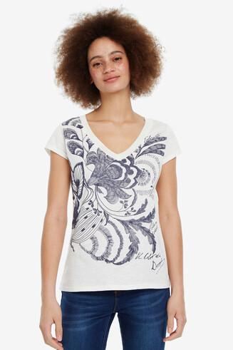 Geblümtes Shirt V-Ausschnitt Cheyennes