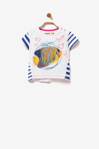 T-Shirt Fisch Pailletten