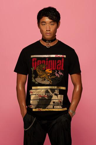 T-shirt 100% coton motif tigre