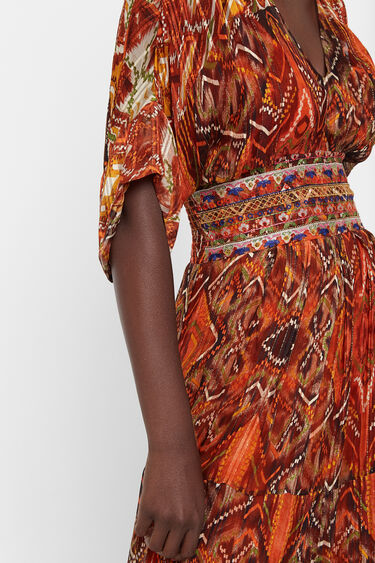 Dress with African friezes | Desigual